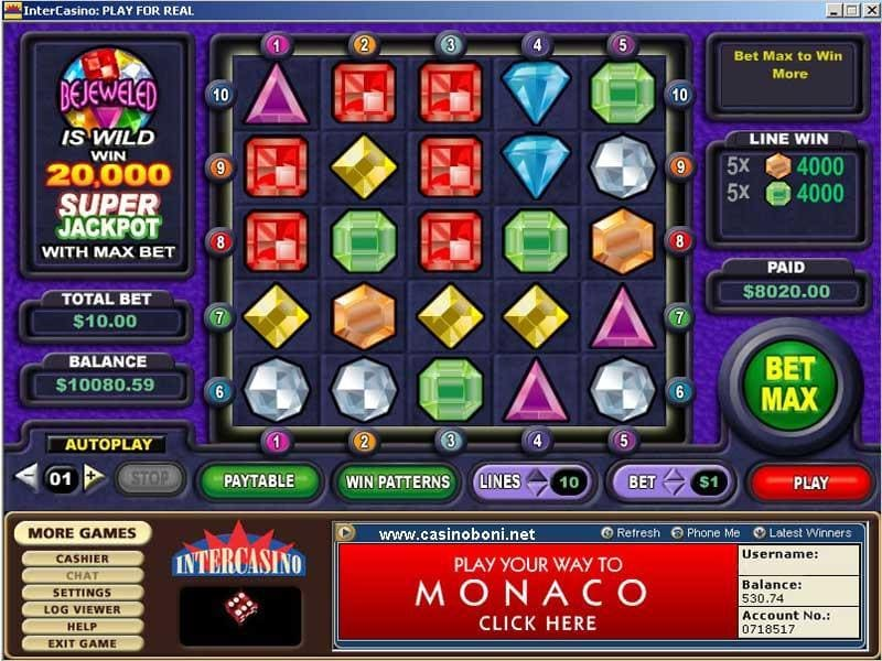 8000$ Jackpot Gewinn am Bejeweled Slot
