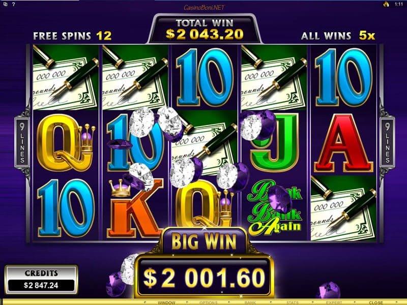 Casinogewinn im Freispiel Feature des Break Da Bank Again - Mega Spin Casino Internet Slots