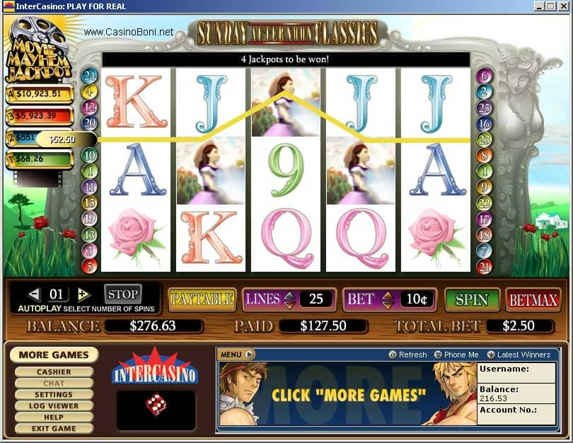 Movie Mayham Slots - Online Casino Slotmaschine -  Sunday Afternoon Classics