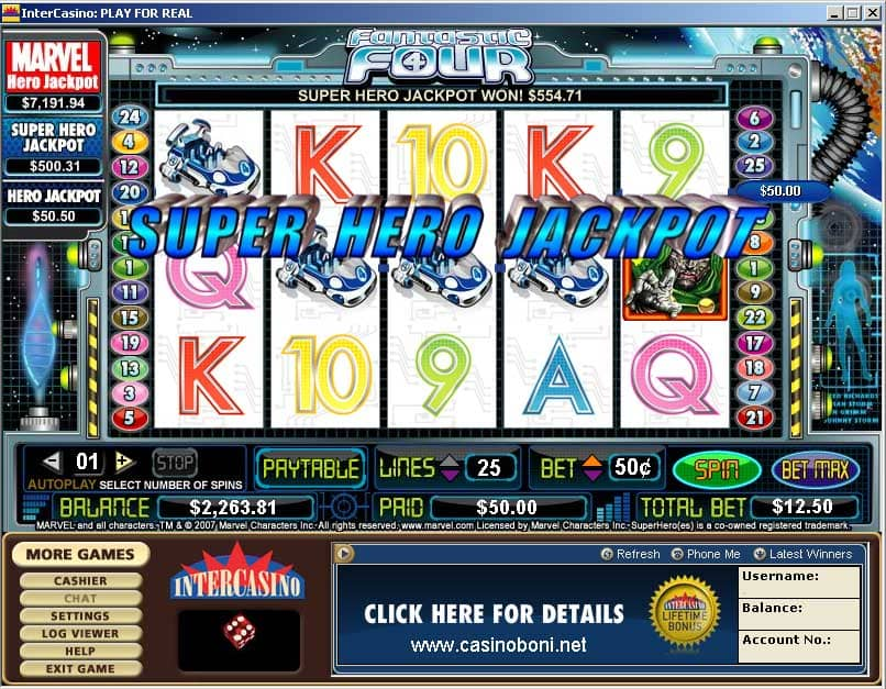 super hero jackpot - Marvel - Online Casino