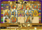 119047 Coins - won after 40 freespin rounds by the Isis Mega Moolah Casino Jackpot Slot