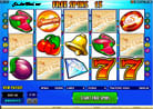 5 Scatter Gewinnkombination am Casino Video-Slot Automat Summertime
