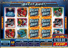 Stacked Wilds und Rolling Reels sorgen f�r tolle Gewinnkombinationen beim Internet Casino Videoslot Break Away